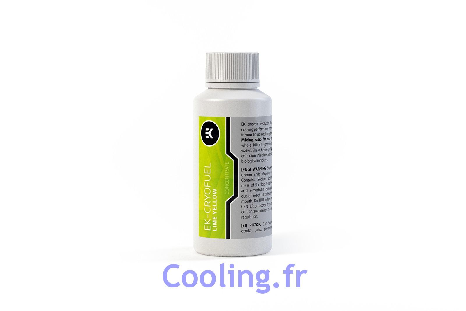 liquide de protection concentr ek cryofuel jaune citron uv 100ml ek water blocks. Black Bedroom Furniture Sets. Home Design Ideas